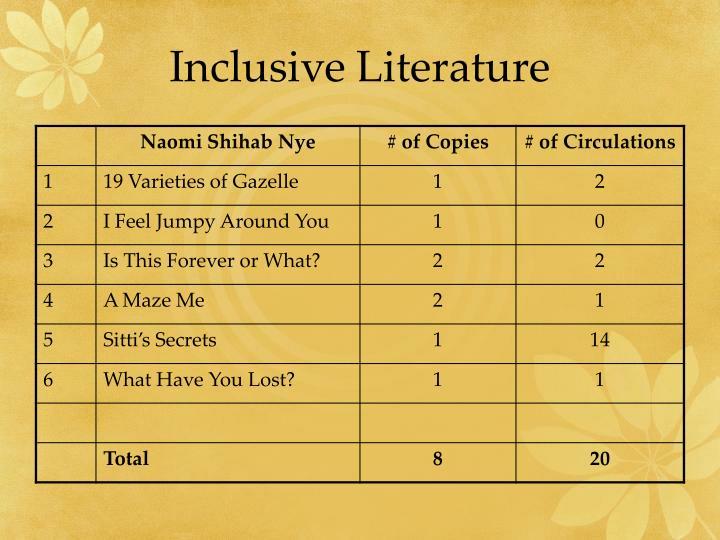 Inclusive Literature