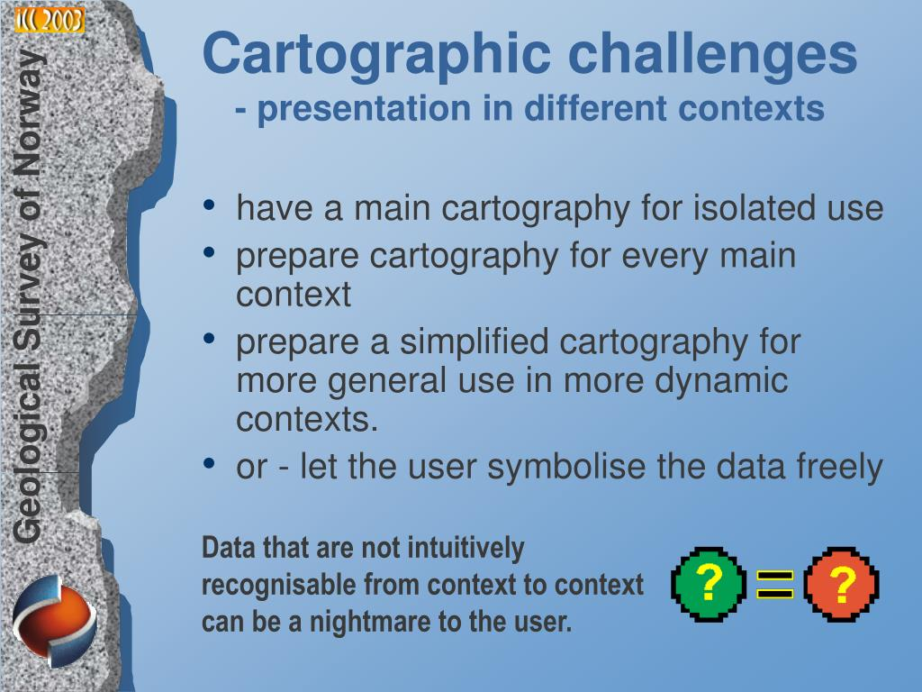 Cartographic challenges