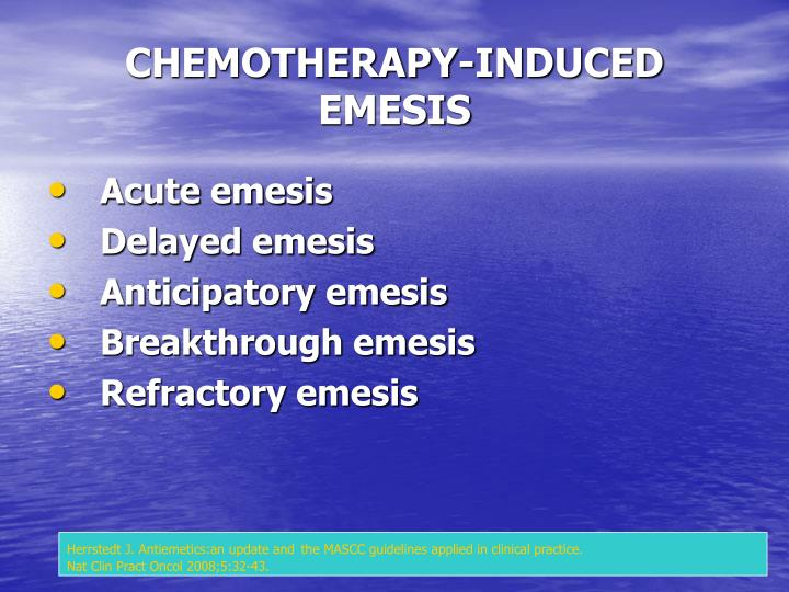CHEMOTHERAPY-INDUCED EMESIS