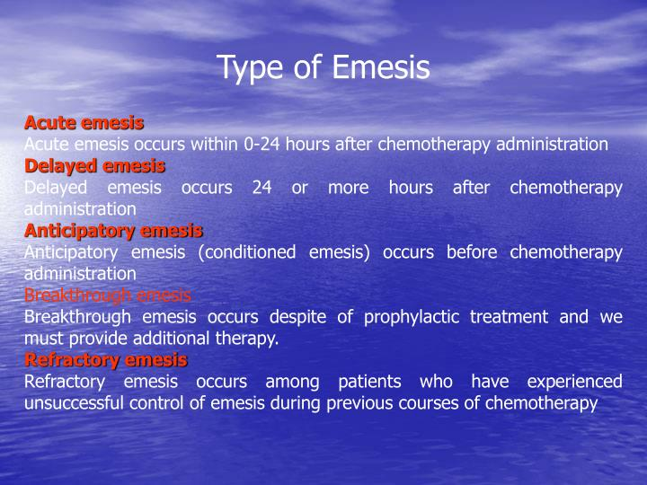 Type of Emesis