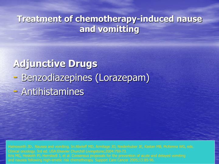 Treatment of chemotherapy-induced nause and vomitting