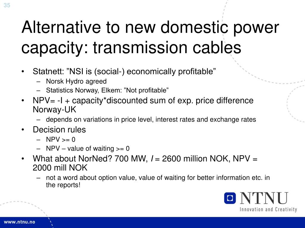 Alternative to new domestic power capacity: transmission cables