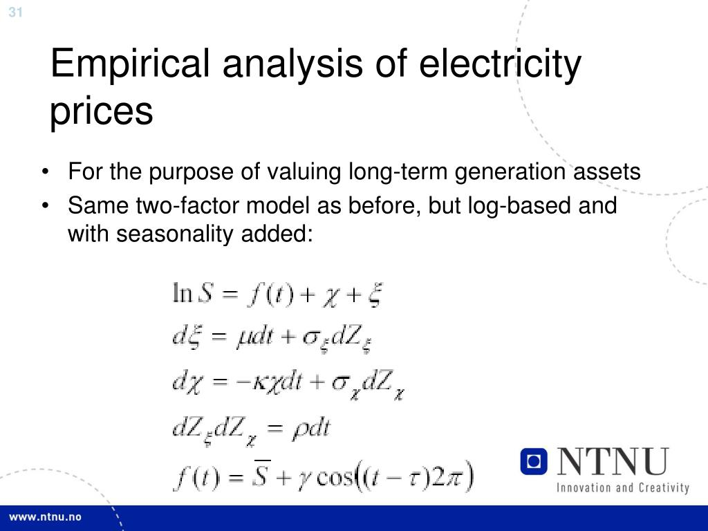 Empirical analysis of electricity prices