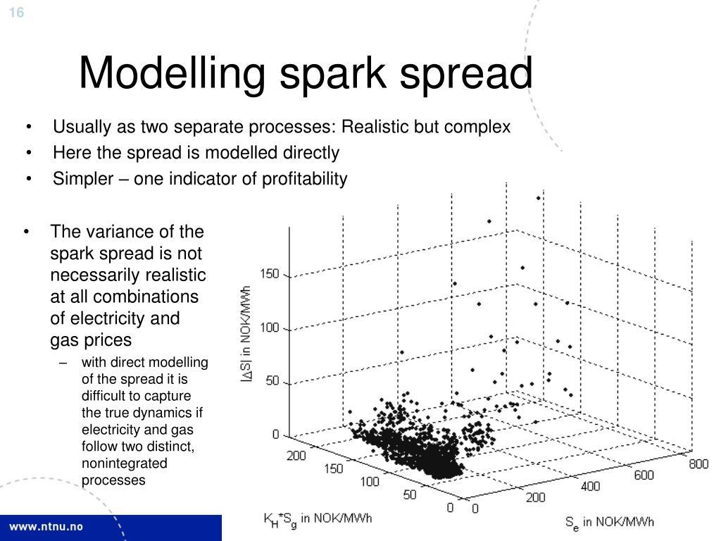 Modelling spark spread