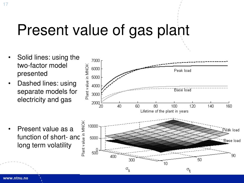 Present value of gas plant
