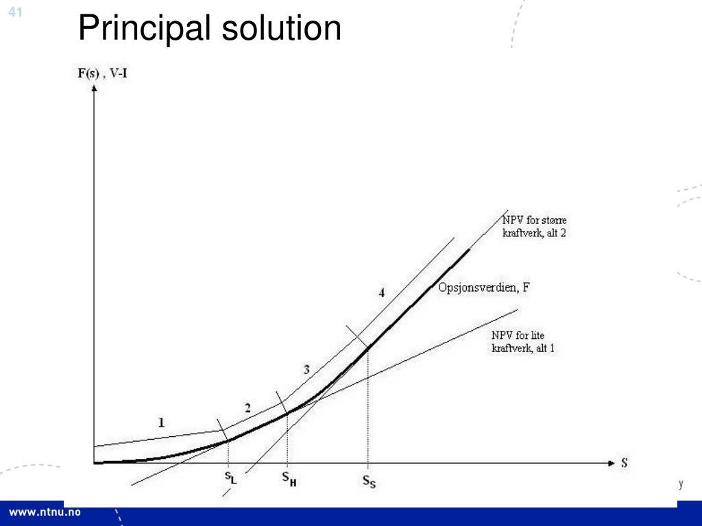 Principal solution