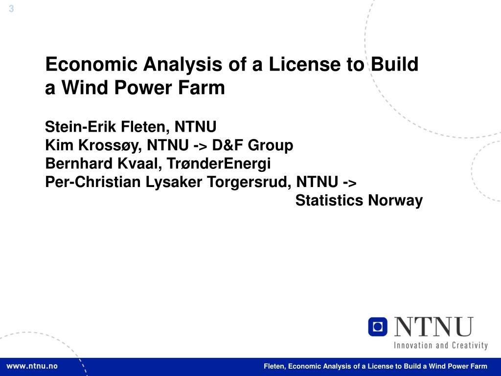 Economic Analysis of a License to Build