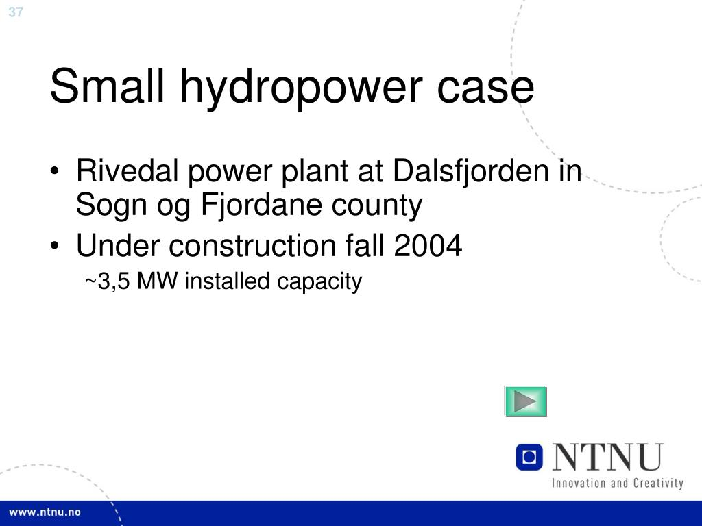 Small hydropower case