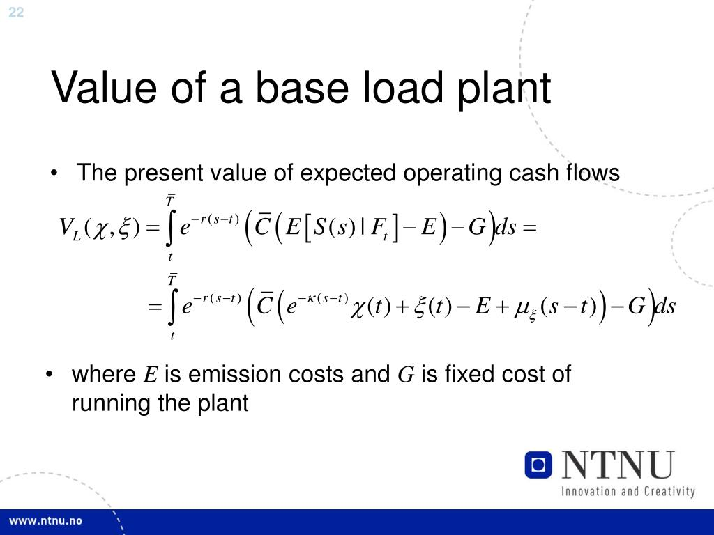 Value of a base load plant