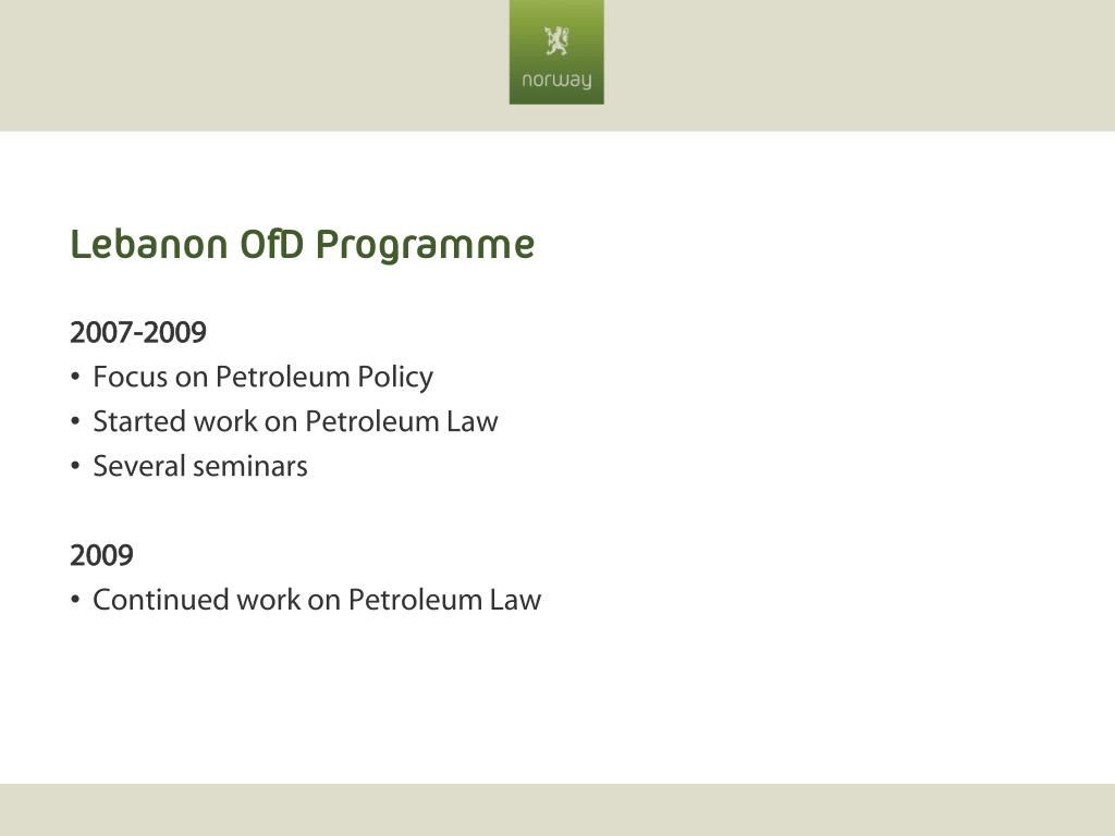 Lebanon OfD Programme
