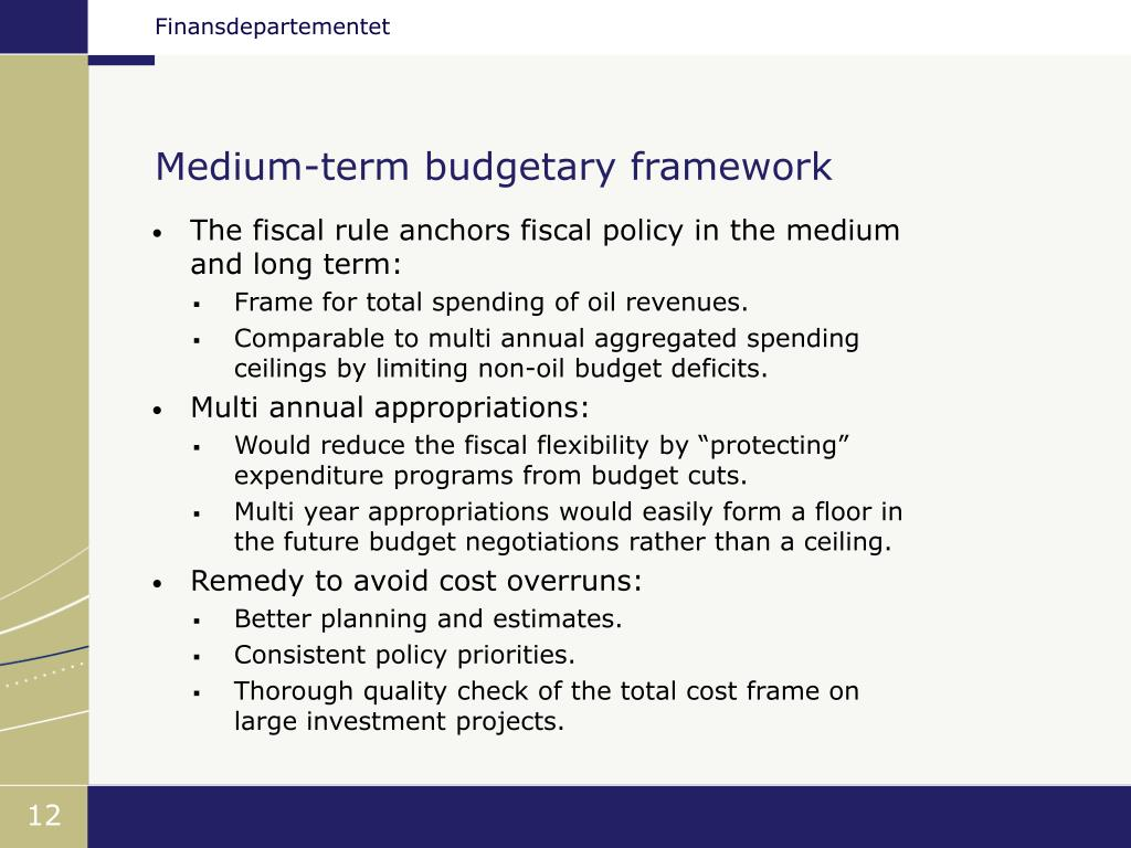 Medium-term budgetary framework