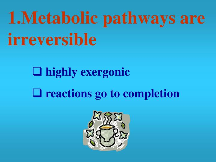 1.Metabolic pathways are irreversible