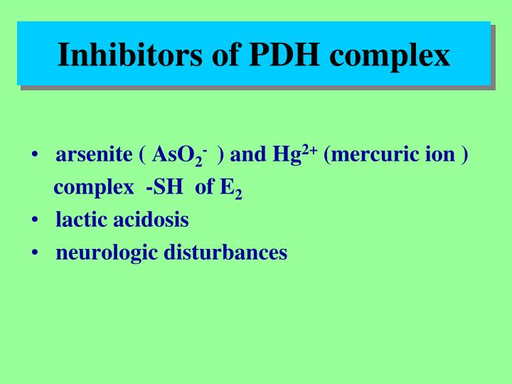 Inhibitors of PDH complex