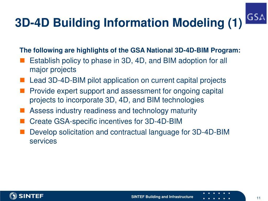 3D-4D Building Information Modeling (1)