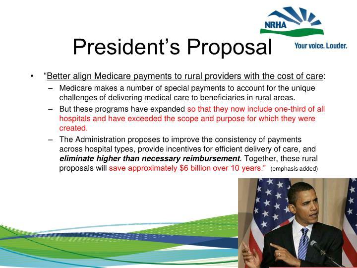 President's Proposal