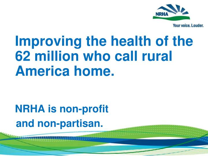 Improving the health of the 62 million who call rural America home.