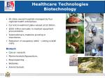 healthcare technologies biotechnology