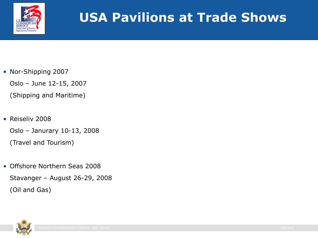 USA Pavilions at Trade Shows