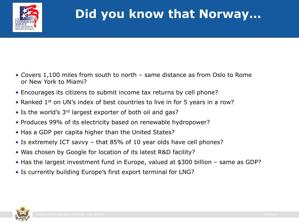 Did you know that Norway…