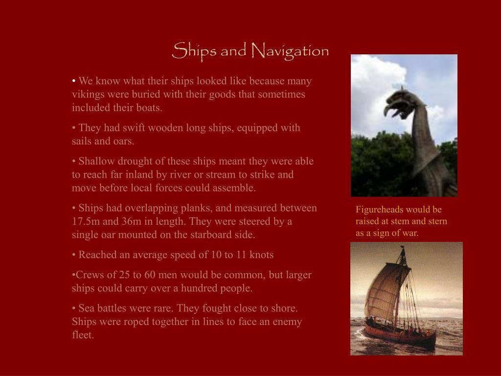 Ships and Navigation