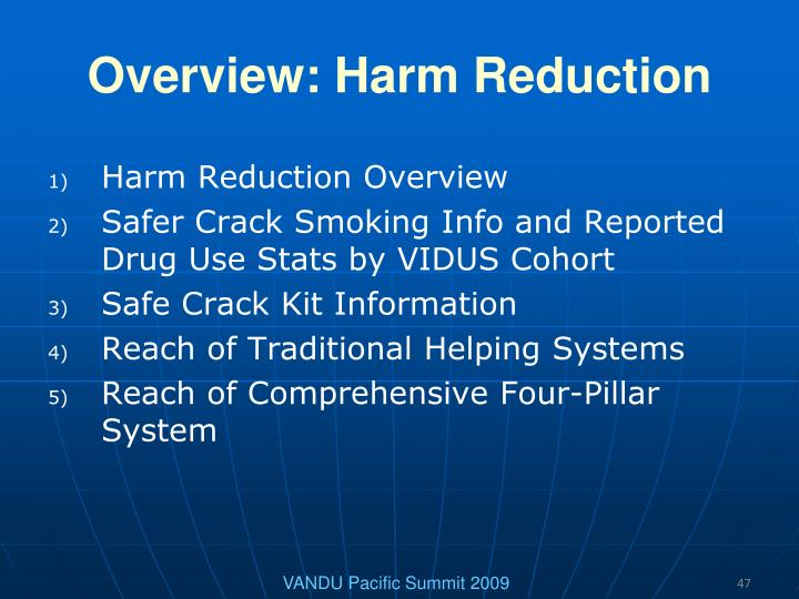 Overview: Harm Reduction