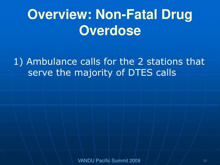 Overview: Non-Fatal Drug Overdose