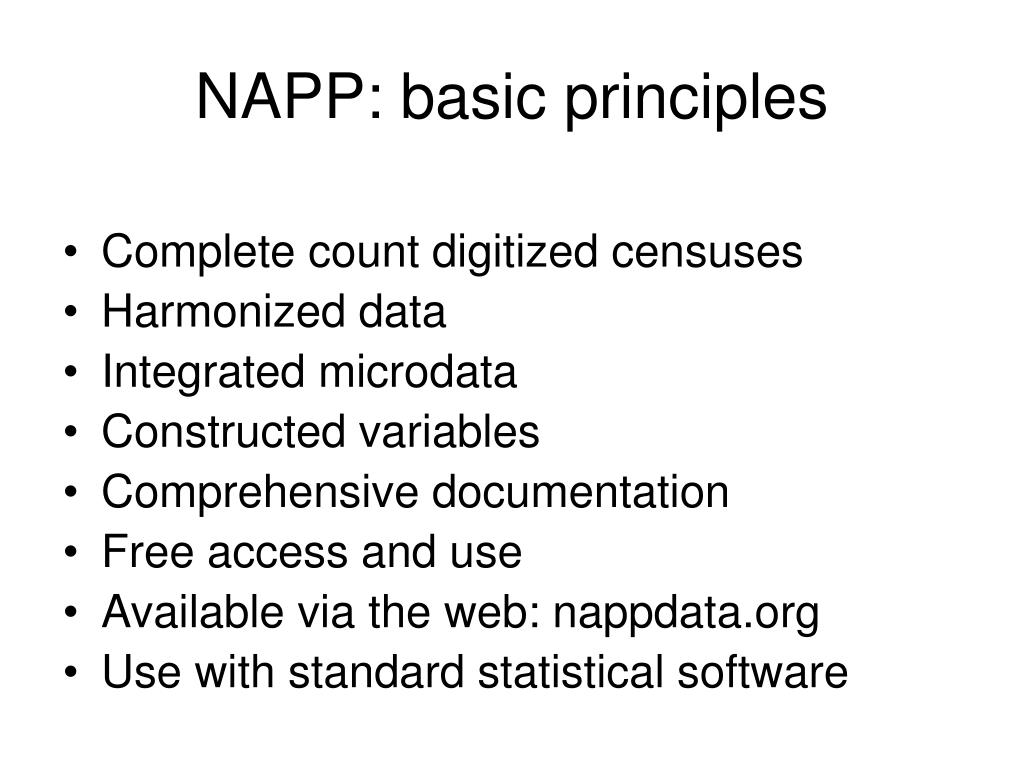 NAPP: basic principles