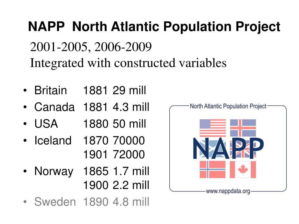 NAPP  North Atlantic Population Project