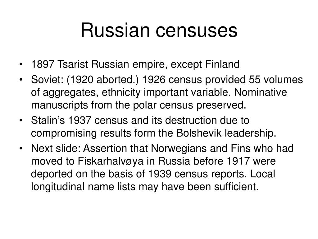 Russian censuses