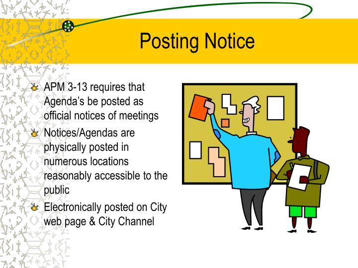 Posting Notice
