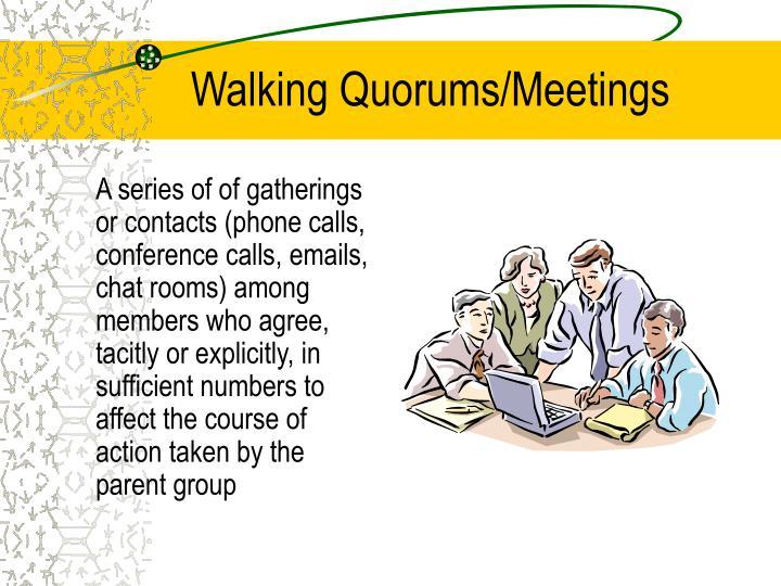 Walking Quorums/Meetings