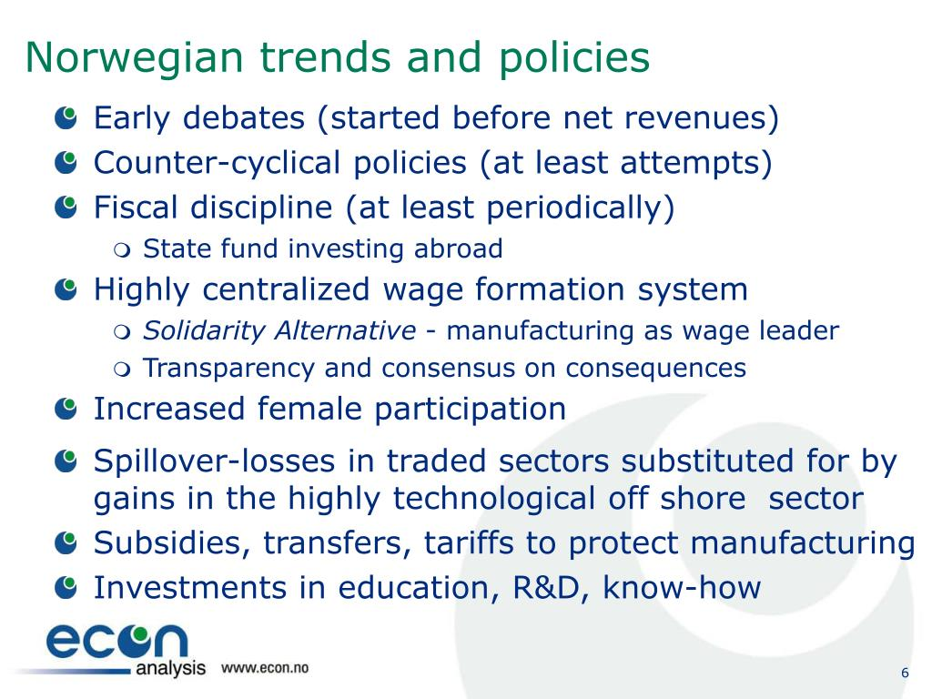 Norwegian trends and policies