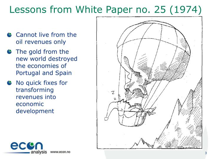 Lessons from White Paper no. 25 (1974)