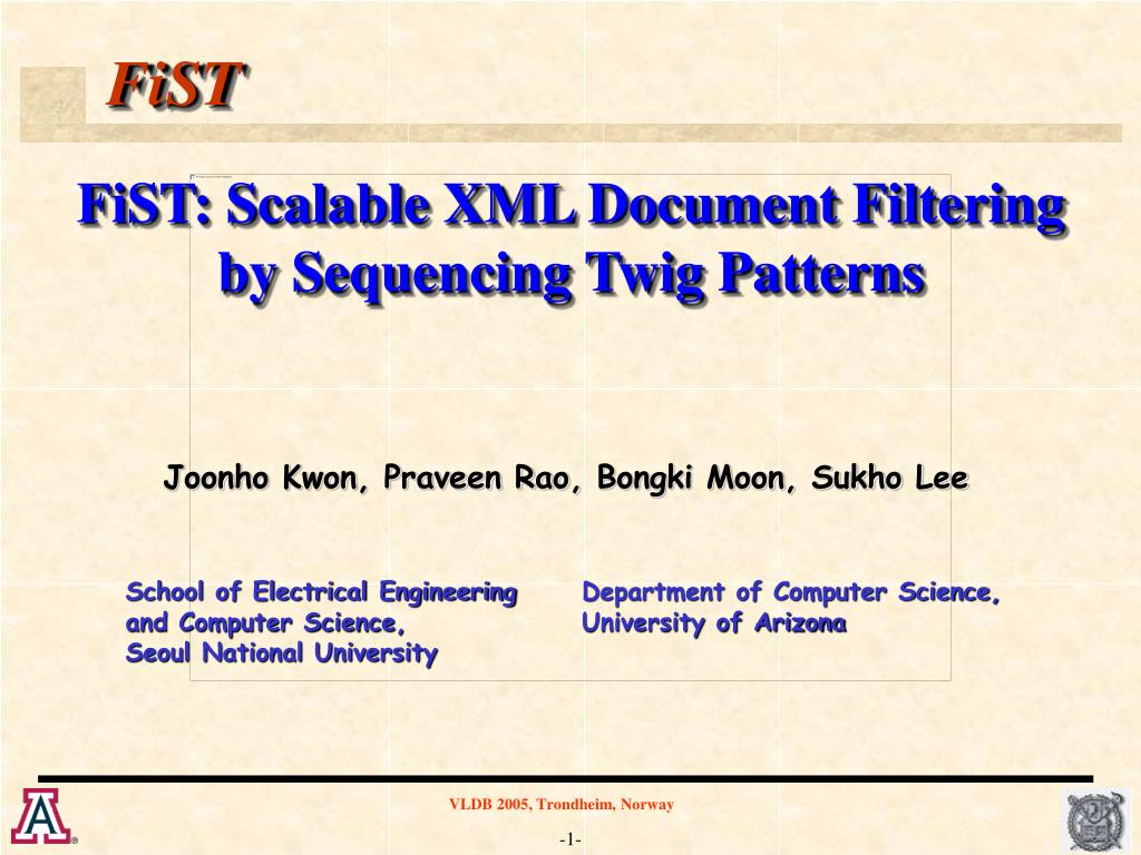 fist scalable xml document filtering by sequencing twig patterns