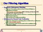 our filtering algorithm