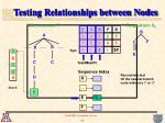 testing relationships between nodes
