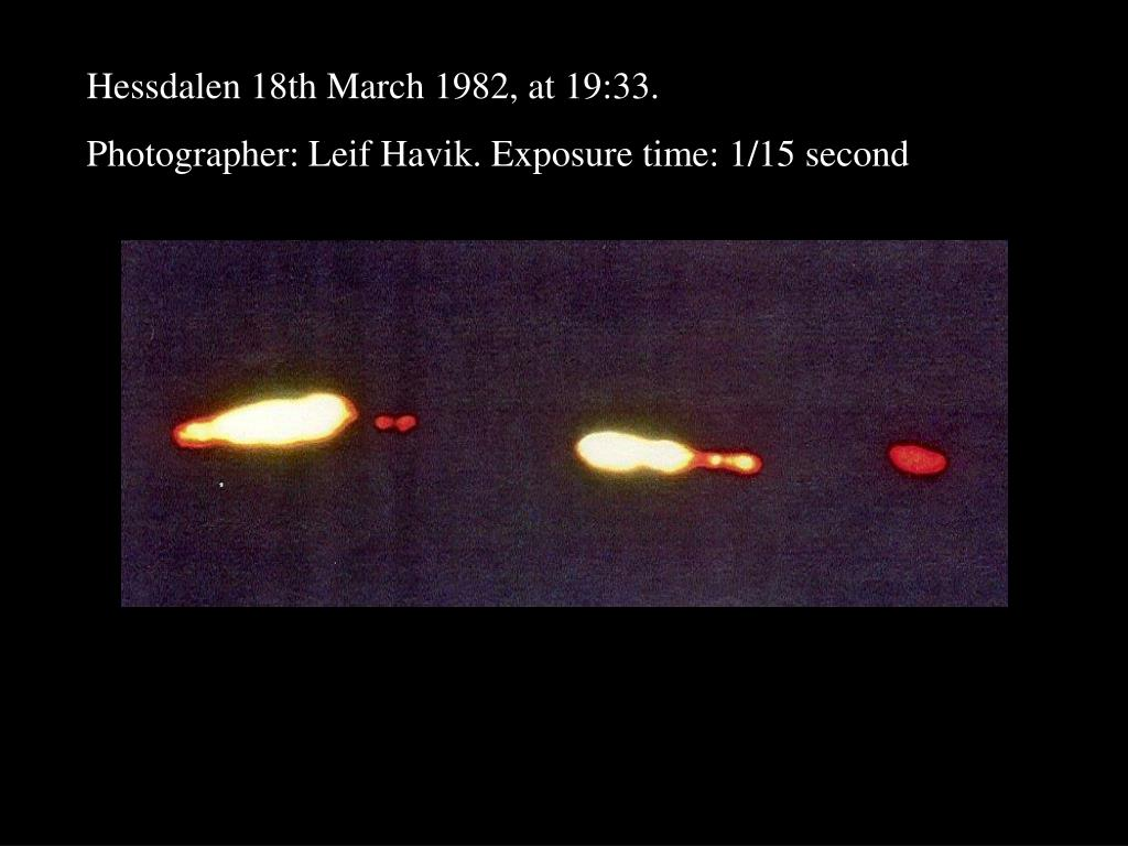Hessdalen 18th March 1982, at 19:33.