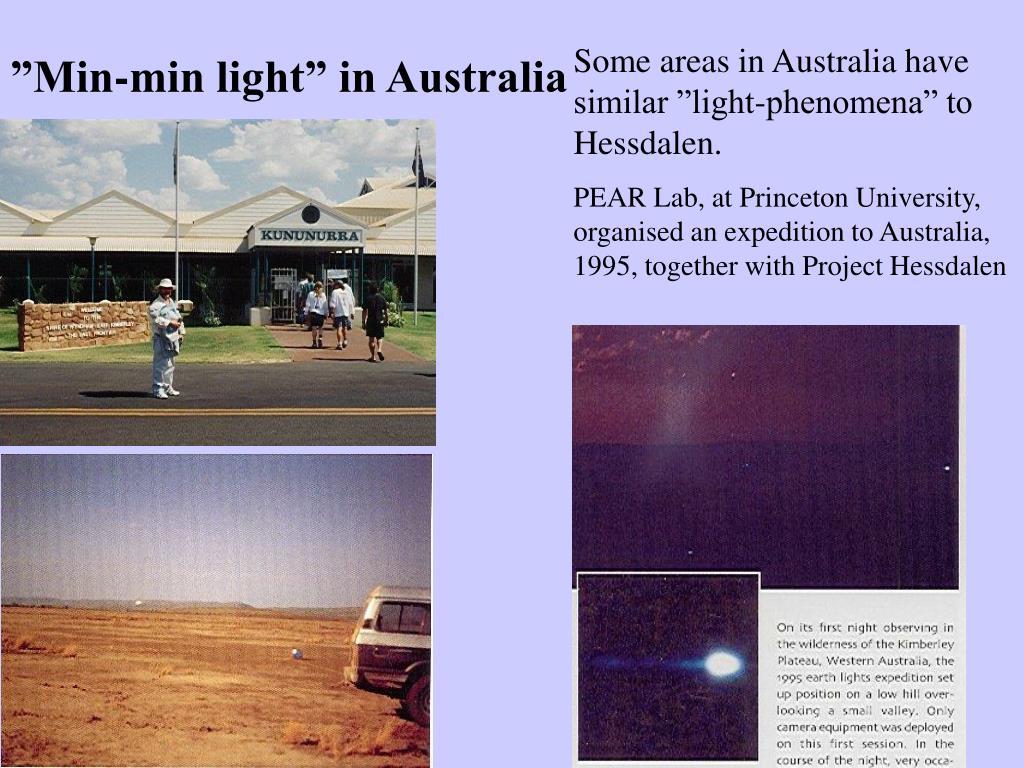 """Some areas in Australia have similar """"light-phenomena"""" to  Hessdalen."""
