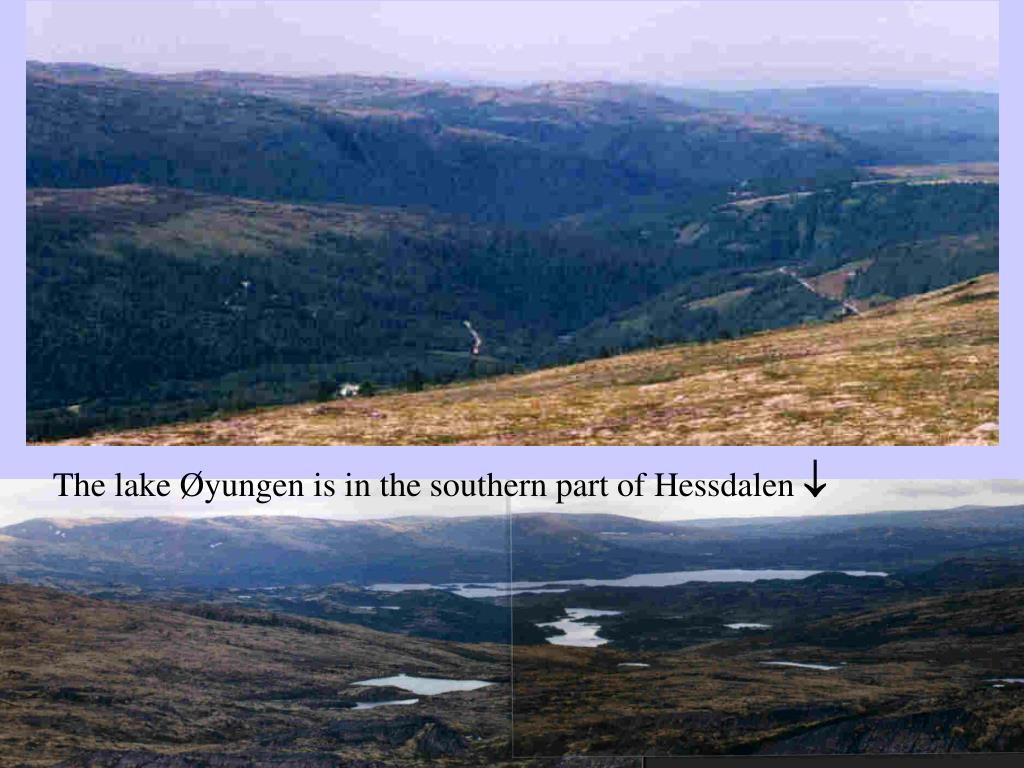 The lake Øyungen is in the southern part of Hessdalen