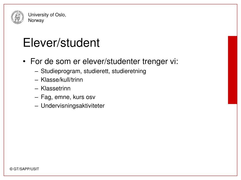 Elever/student