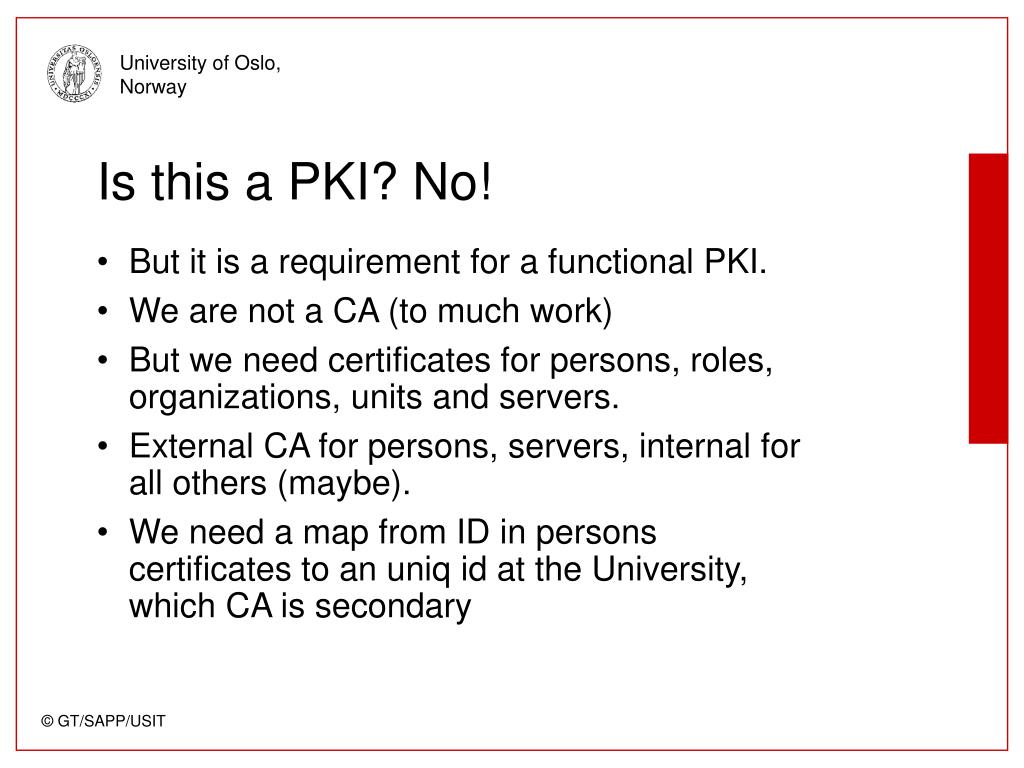 Is this a PKI? No!