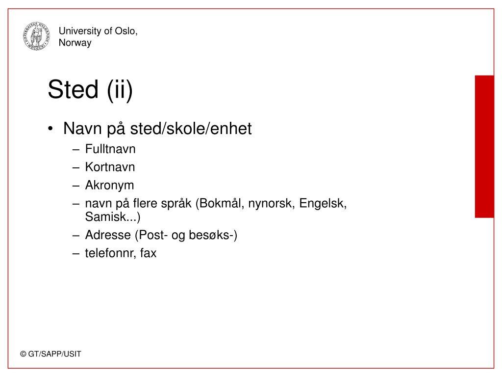 Sted (ii)