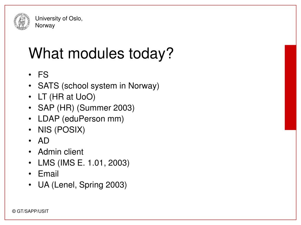 What modules today?