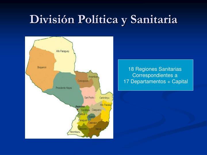 División Política y Sanitaria