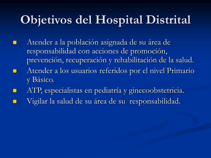 Objetivos del Hospital Distrital