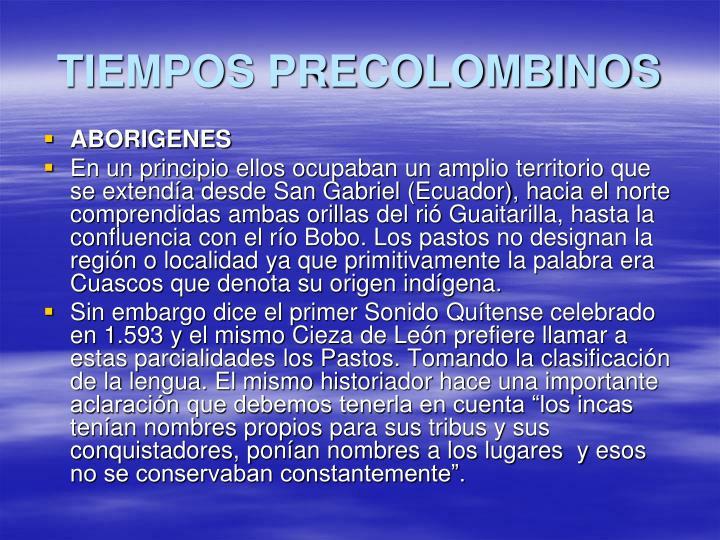 TIEMPOS PRECOLOMBINOS