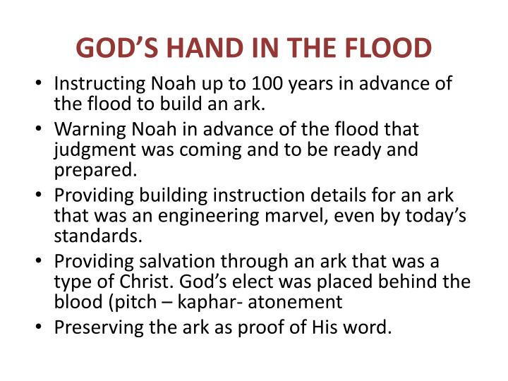 GOD'S HAND IN THE FLOOD