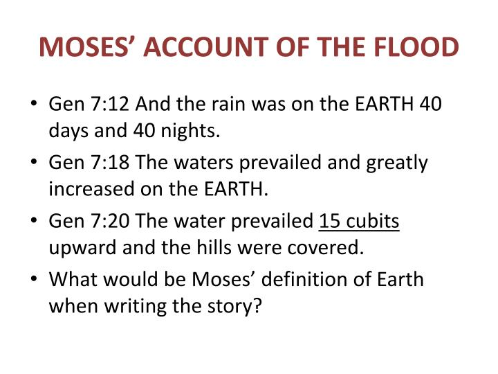 MOSES' ACCOUNT OF THE FLOOD
