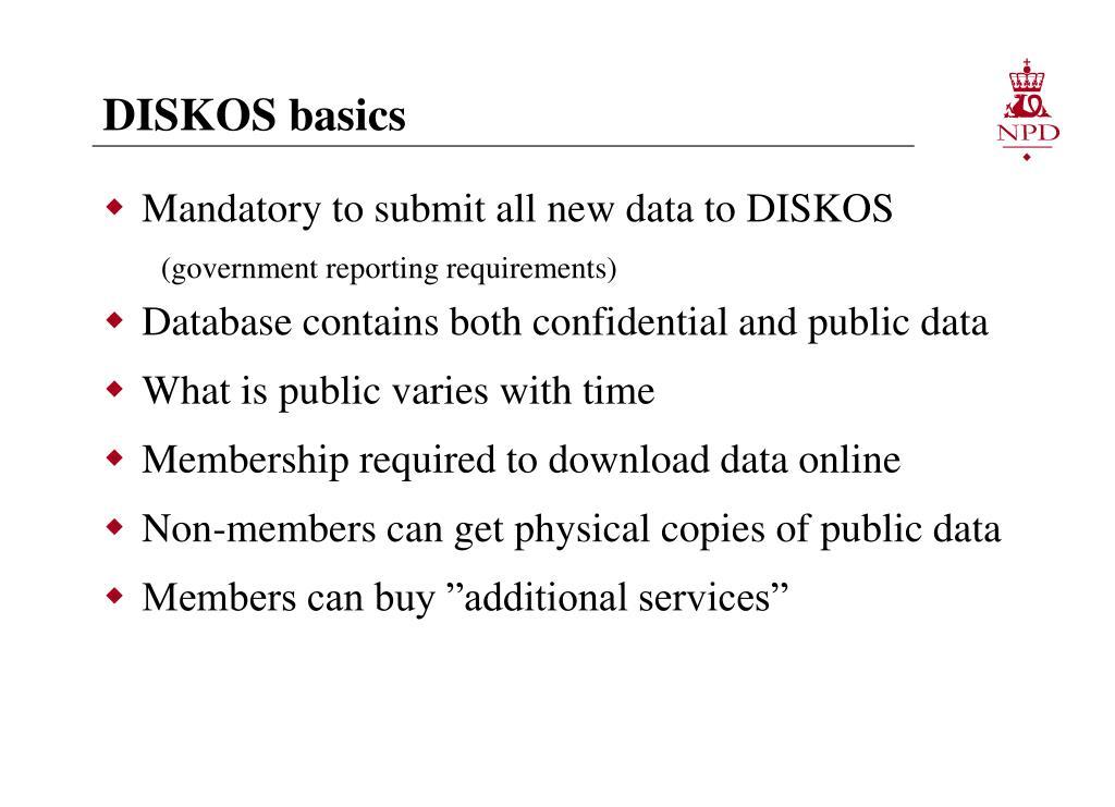 DISKOS basics