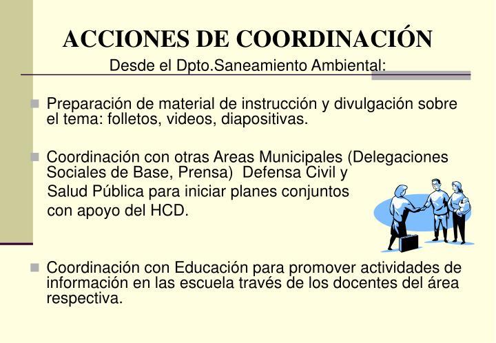ACCIONES DE COORDINACIÓN